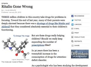 Ritalin Gone Wrong