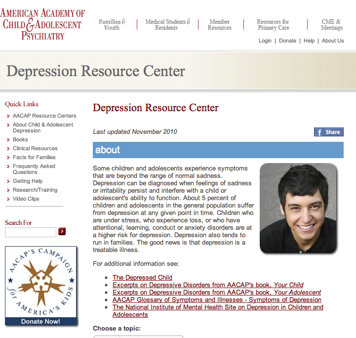 depression research articles