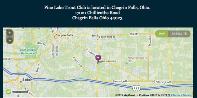 Trout Club Directions