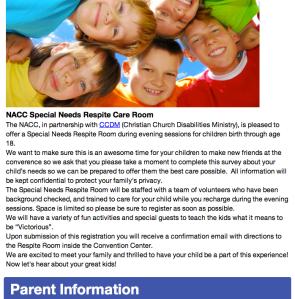 NACC Special Needs Respite