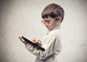 Smart kid with iPad