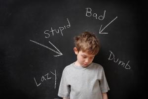 Child negative labels school