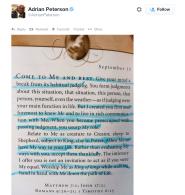 Peterson Tweet